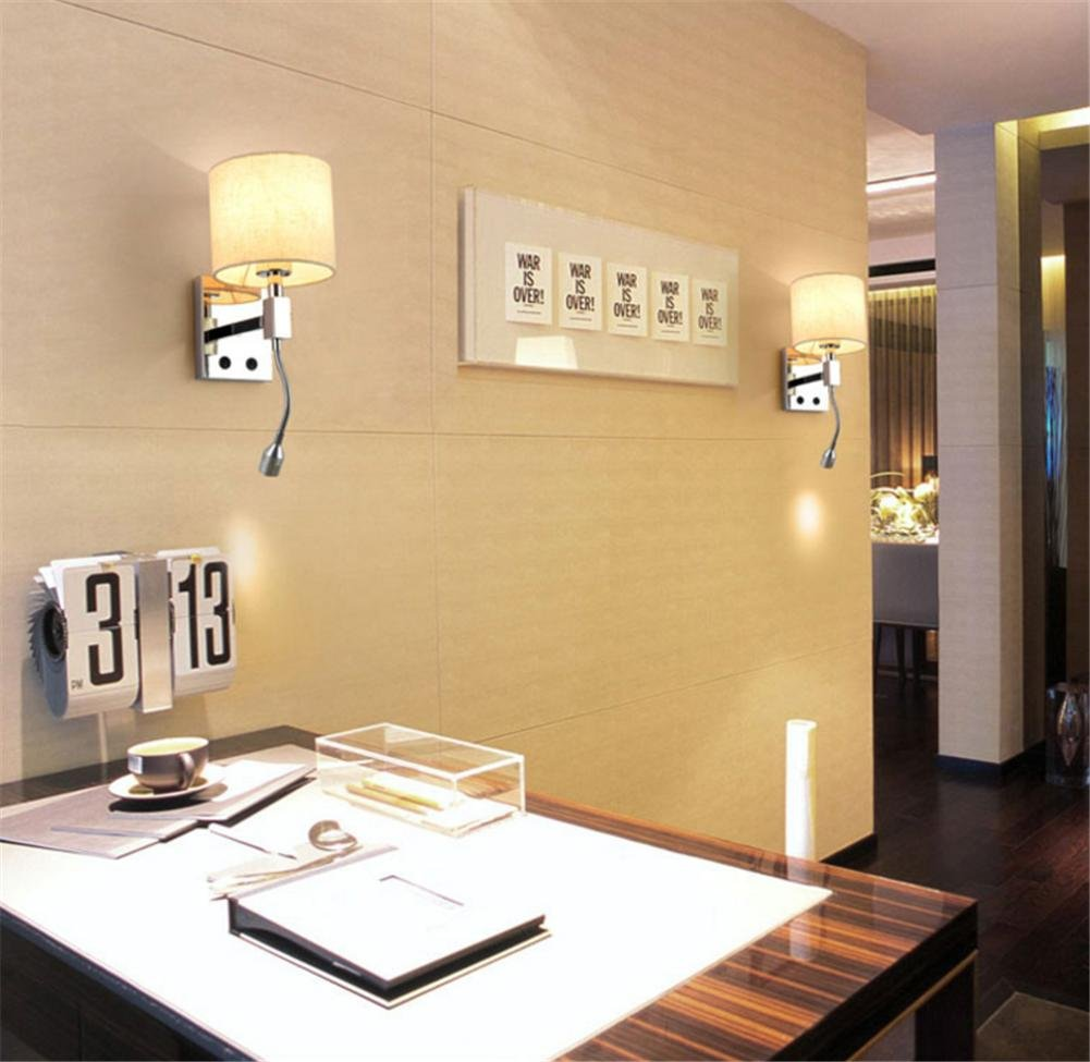 Wall Lights Modern E27 Bedside Stainless Steel Wall Lamp And ...
