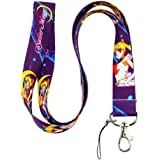 Sailor Moon Purple Lanyard Key Chain ID Holder