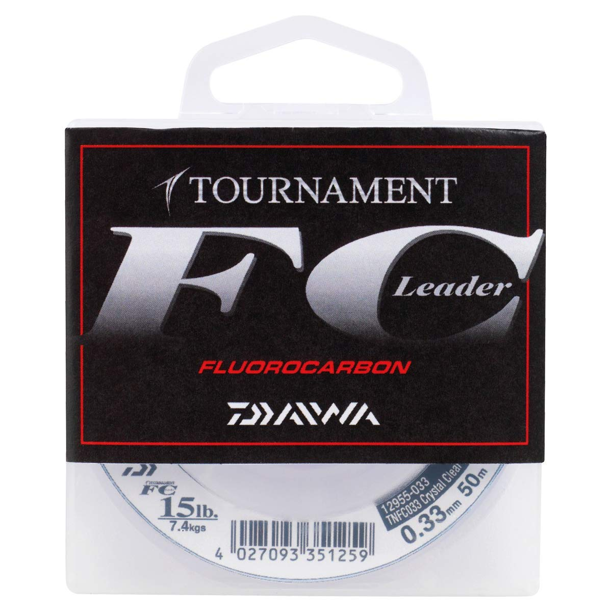 Daiwa Tournament FC 0.16mm 50m Fluorocarbon Schnur transparent