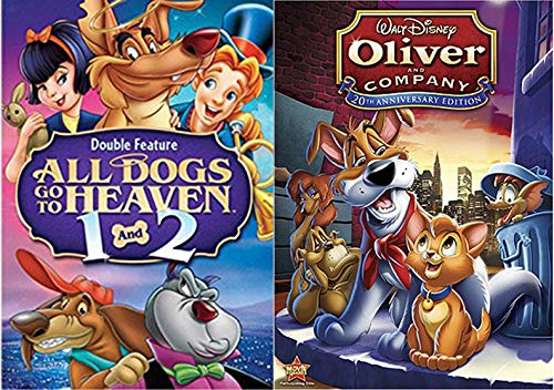 Why Should I Worry? Disney Oliver & Company + All Dogs go to heaven Part 1 & 2 Cartoon Movie DVD Animated Triple Feature Set Bundle (The Fox And The Hound Part 1)