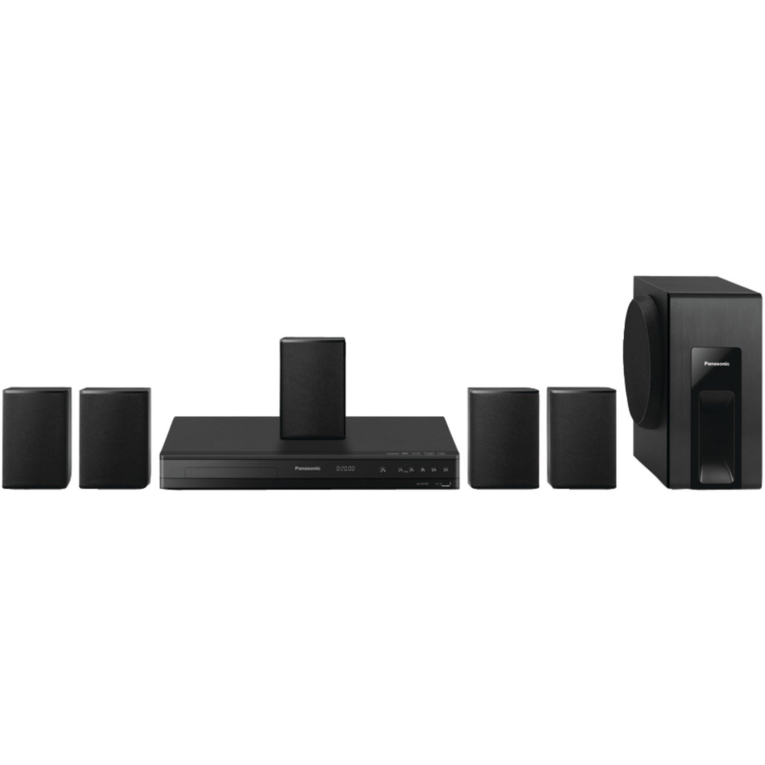 Panasonic Home Theater System SC-XH105 (Black) 5.1 Surround Sound, Upconvert DVDs to 1080p Detail by Panasonic
