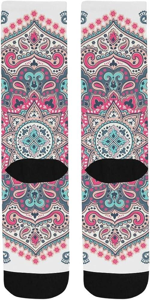 Indian Floral Paisley Pattern Design Crazy Dress trouser Sock For Men Women kid