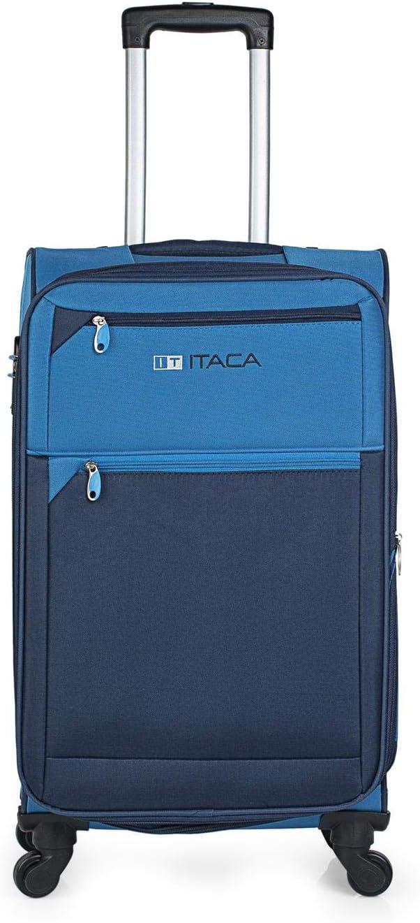 Color Azul-Azul Marino ITACA Juego de Maletas Cabina y Grande Blandas 701017