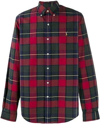 Camisa Ralph Lauren SL BD Sport Cuadros Rojo/Multi Hombre S Rojo: Amazon.es: Ropa y accesorios