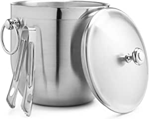 Bellemain 3 Litre Insulated Stainless Steel Ice Bucket with Bonus Ice Tongs
