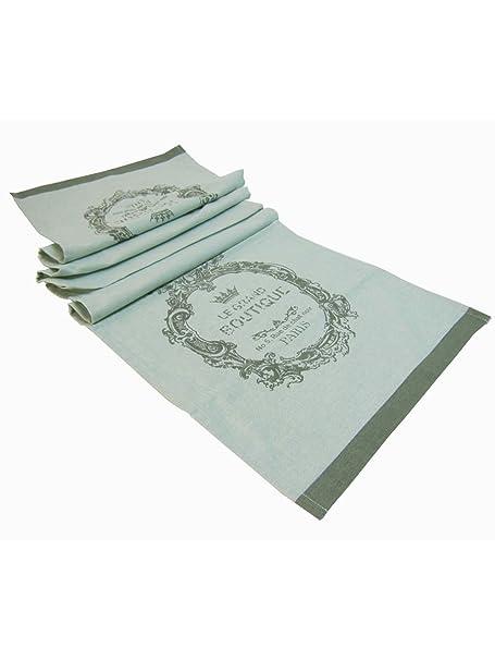 Escrito en camino de mesa de algodon verde 150 x 40 x 0, Deco 3 ...