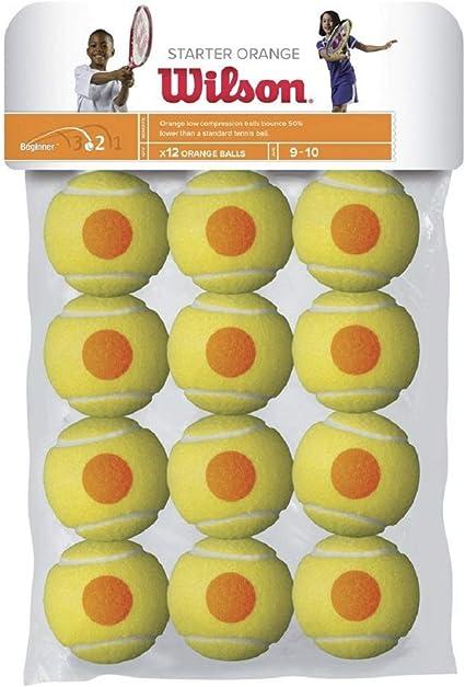 Wilson Starter Orange Pelotas de tenis, pack de 12, para niños ...