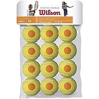 Wilson Starter Game Orange Dot Tennis Ball, 12 Pieces