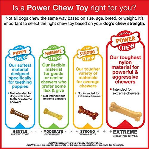 Nylabone Flavor Frenzy Power Chew DuraChew Toy for Aggressive Chewers, Movie Night Flavors