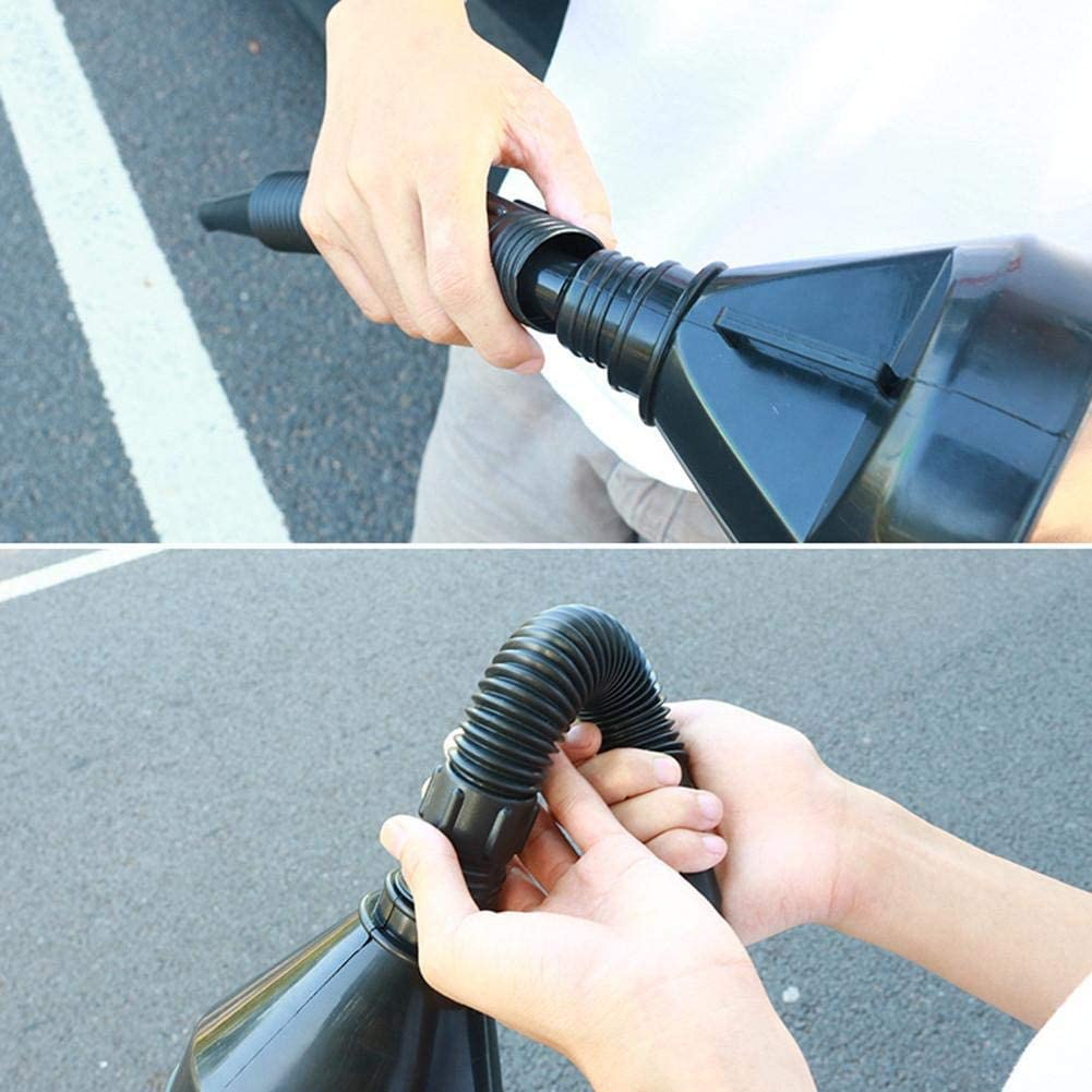 Car Motorcycle Refueling Funnel Self Driving Emergency Tool for Truck Vehicle Flexible Plastic car Fuel Funnel Oil Petrol Diesel Fuel Plastic Filling Funnel Hose Nozzle Oil Pouring Tool