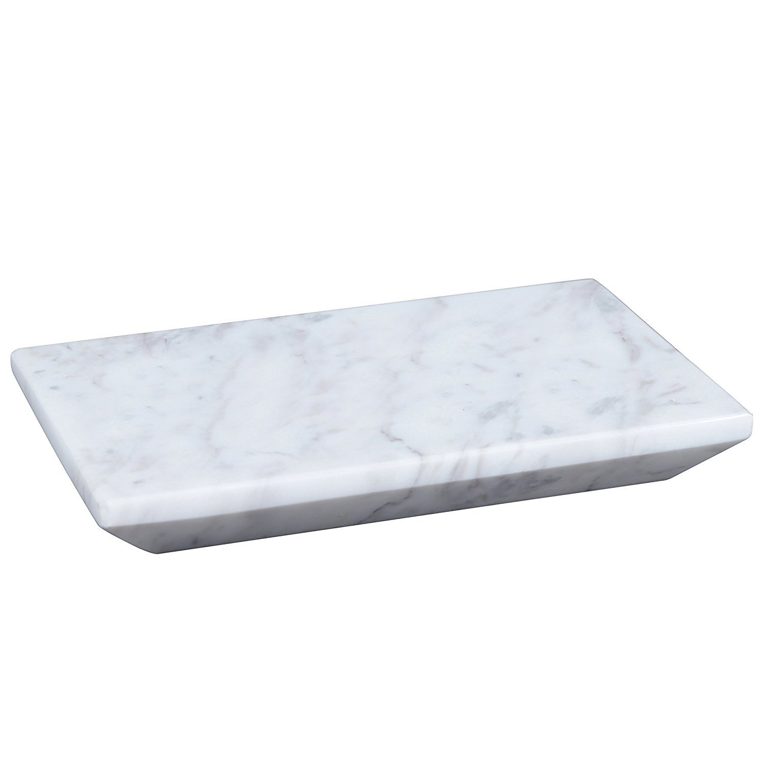 Dflounz Chritmas Gift/Chritmas Sale Marble Stone Soap Dish Bath Accessories for Bathrooms, Tub or Wash Basin in Rectangular Shape Made Out of Indian B-White Marble Stone.