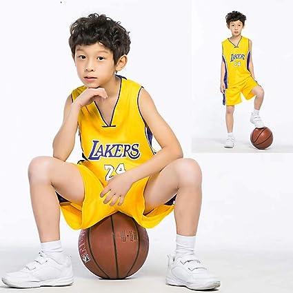 GAOZI Enfants Maillots De Basketball Warriors 35# Durant Basket Maillots Basketball T-ShirtJersey Et Short Ensemble De Maillot pour Les