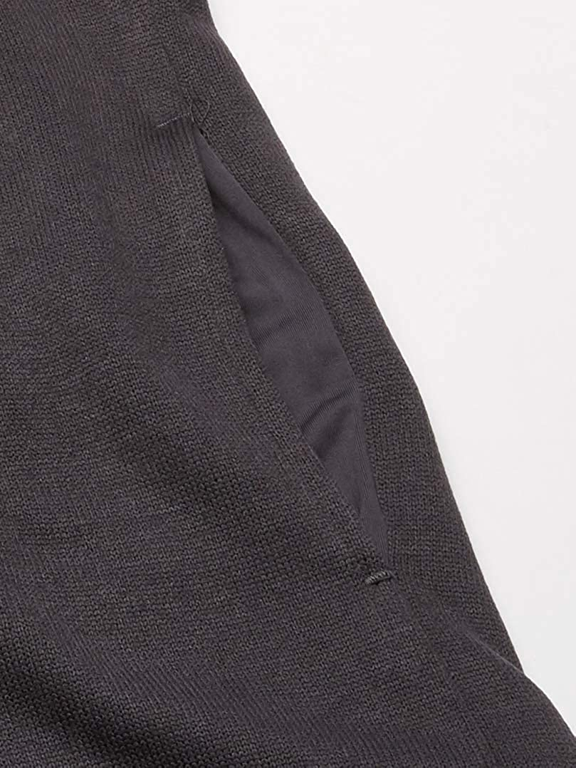 PGA TOUR Mens Solid Fleece Back Vest Fleece Jacket