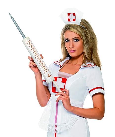 Faschingsfete – Accesorio para Disfraz de médico, Enfermera Jumbo, jeringuilla Gigante, Carnaval,