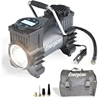 Energizer Portable Air Compressor Tire Inflator, 12V DC Air Pump for Car Tires with Auto Shut Off Function - 120 Max PSI…