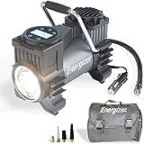 Energizer Air Compressor Portable Tire Inflator, 12V DC Air Pump for Car Tires with Digital Tire Pressure Gauge, 120 Max PSI,
