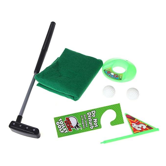 Amazon.com: winnereco Aseo Baño Mini Golf Juego Potty Putter ...