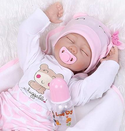 22/'/' Handmade Reborn Baby Doll Silicone Vinyl Realistic Newborn Girl Kids Toys