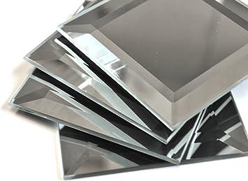 3x3 Wide Beveled Mirror Tile Amazon Com