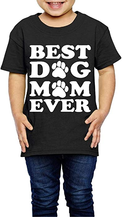 XYMYFC-E Best Mom Ever 2-6 Years Old Kids Short-Sleeved T Shirt