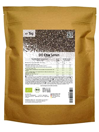 BIO las semillas de Chía («Salvia hispanica»)  1kg: Amazon ...