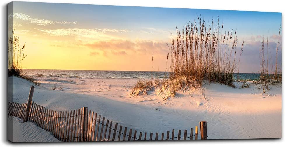 Canvas Wall Art for living room seaview sand dunes Seagrass landscapes bathroom Wall Decor Ready to Hang Home Decorations bedroom kitchen inspirational Canvas prints posters painting mural Artwork