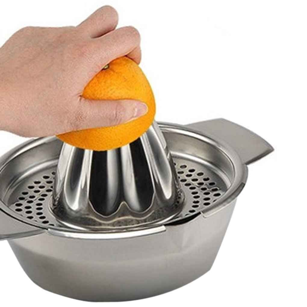 Ruiboury Stainless Steel Manual Juicer Fruit Lemon Squeezer with Bowl Juicer Strainer