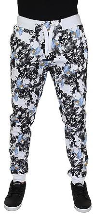 ad67879c7eeb3c ... authentic jordan craig mens bird floral jogger sweatpants pants white  26762 c0ffb