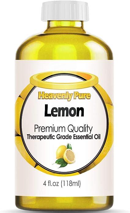 Aceite Esencial De Limón Puro Heavenly Pure 100 Puro Y Natural De Aroma De Limón Terapéutico De Grado Terapéutico Enorme 4 Onzas Tamaño A Granel Health Personal Care