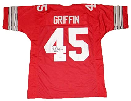 f372e8289 Archie Griffin Autographed Jersey -  45 Red - JSA Certified - Autographed  College Jerseys