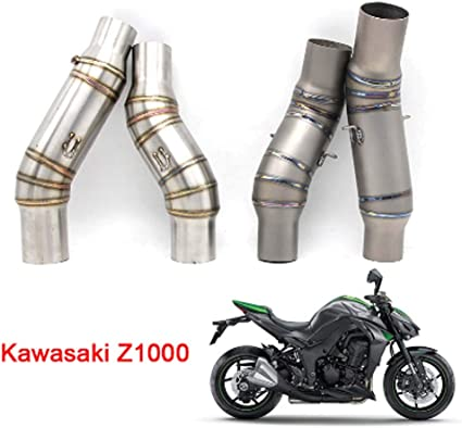 51mm Slip on Motorcycle Exhaust Middle Pipe for Kawasaki Z1000 2010-2014