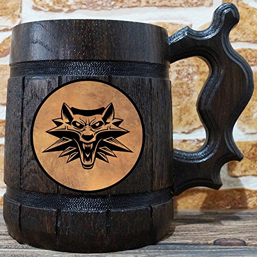 The Witcher Beer Mug, Geralt Beer Stein, Gamer Gift, Personalized Beer Stein, Witcher Tankard, Custom Gift for Men, Gift for Him