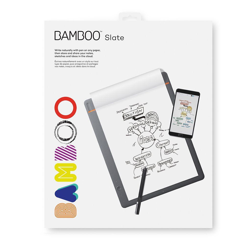 Wacom Bamboo Slate Smartpad Digital Notebook, Large (A4/ Letter Size), CDS810S by Wacom