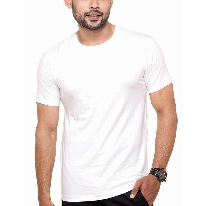 c0a94284c3055c FLEXIMAA Men s Round Neck Plain T-Shirt White Color  Amazon.in  Clothing    Accessories