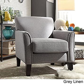 Beautiful TRIBECCA HOME Furniture Uptown Modern Accent Chair Gray Linen