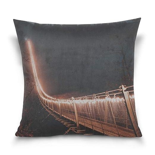 Hectwya Funda de Almohada Bridge Night Fog Decorative ...