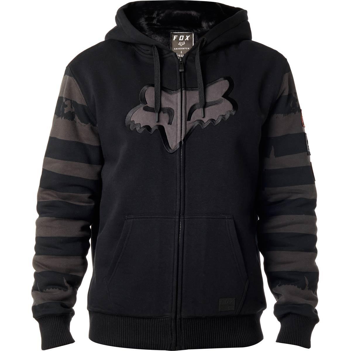 Fox Men's Destro Sasquatch Zip Fleece, Black, M