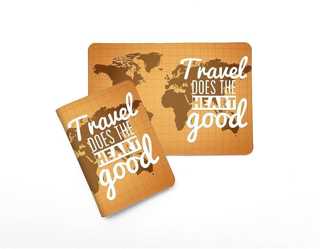 Passport Wallet/_SUPERTRAMPshop Passport Cover Travel World Map Leather Passport Holder