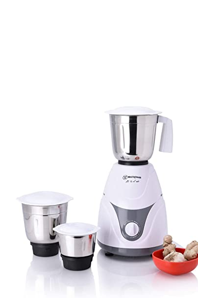 Westinghouse MP60W3A DS 600 Watt Mixer Grinder with 3 Jars  Grey/White  Mixer Grinders
