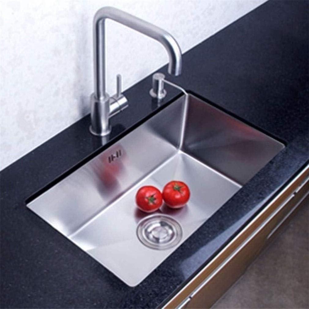 台所の流し。ステンレス鋼1.2ミリメートルシングルボウルの上カウンターやUndermountシンク野菜料理の洗濯 1127