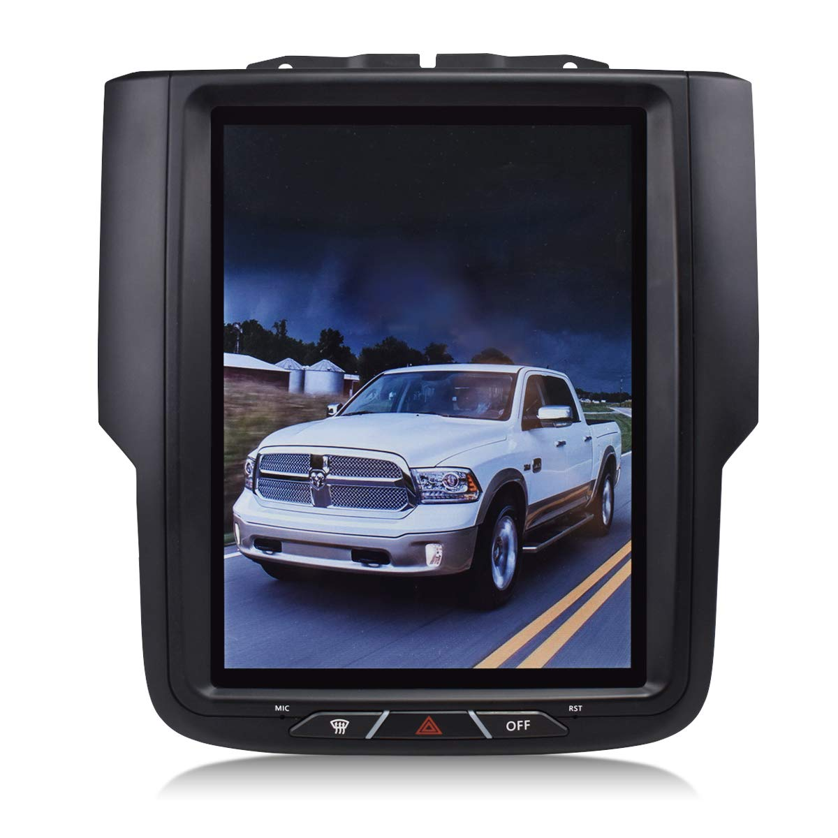 "Krando Android 7.1 10.4"" Vertical Screen car Audio Radio Multimedia System GPS Navigation for Dodge Ram 1500 2014-2018 KD-TV127"