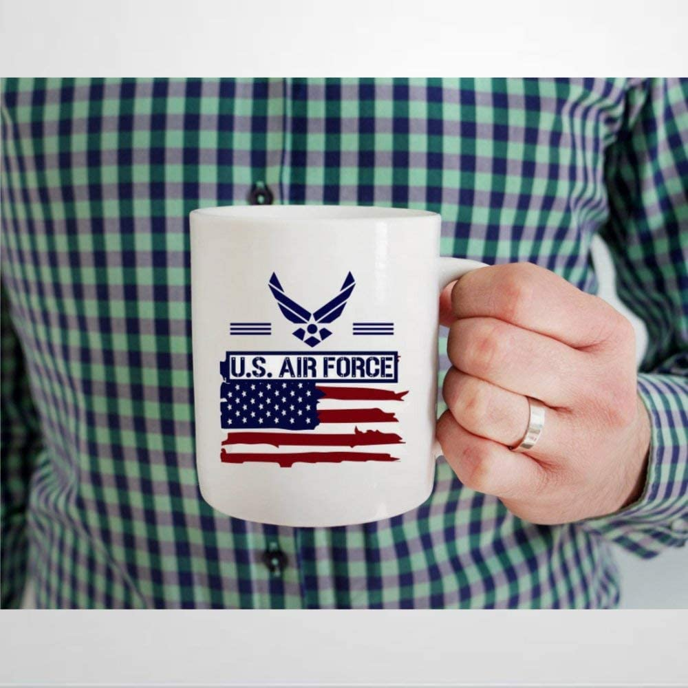U.S. Air Force Coffee Mug,Ceramic Mug Cup for Office and Home,Tea Milk,Birthday For Her or Him,11oz