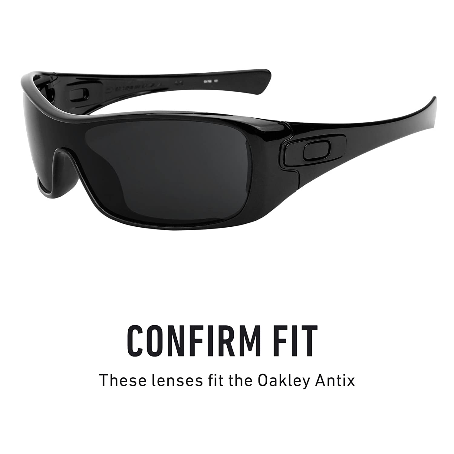 ae2f92b10fe Revant Replacement Lenses for Oakley Antix Black Chrome MirrorShield®   Amazon.co.uk  Clothing