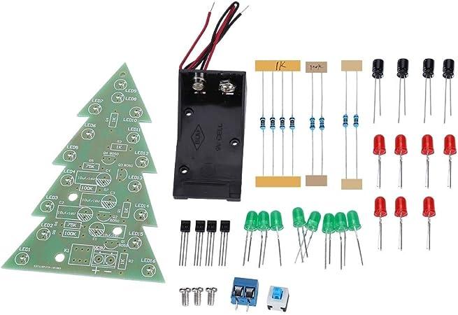 DIY Two-color LED Flashing Light Electronic Kit Circuit Board