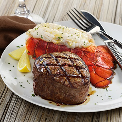Kansas City Steaks 4 (8oz) Super Trimmed Filet Mignon with Hickory Bacon and 4 (5oz) Lobster ()
