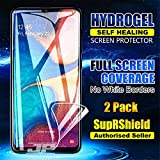 [2 Pack] Samsung Galaxy A20 SupRShield HYDROGEL Aqua Flex Full Coverage Soft Protective Edge to Edge Curve Screen Protector Film Guard for Samsung Galaxy A20 (Pack of 2)
