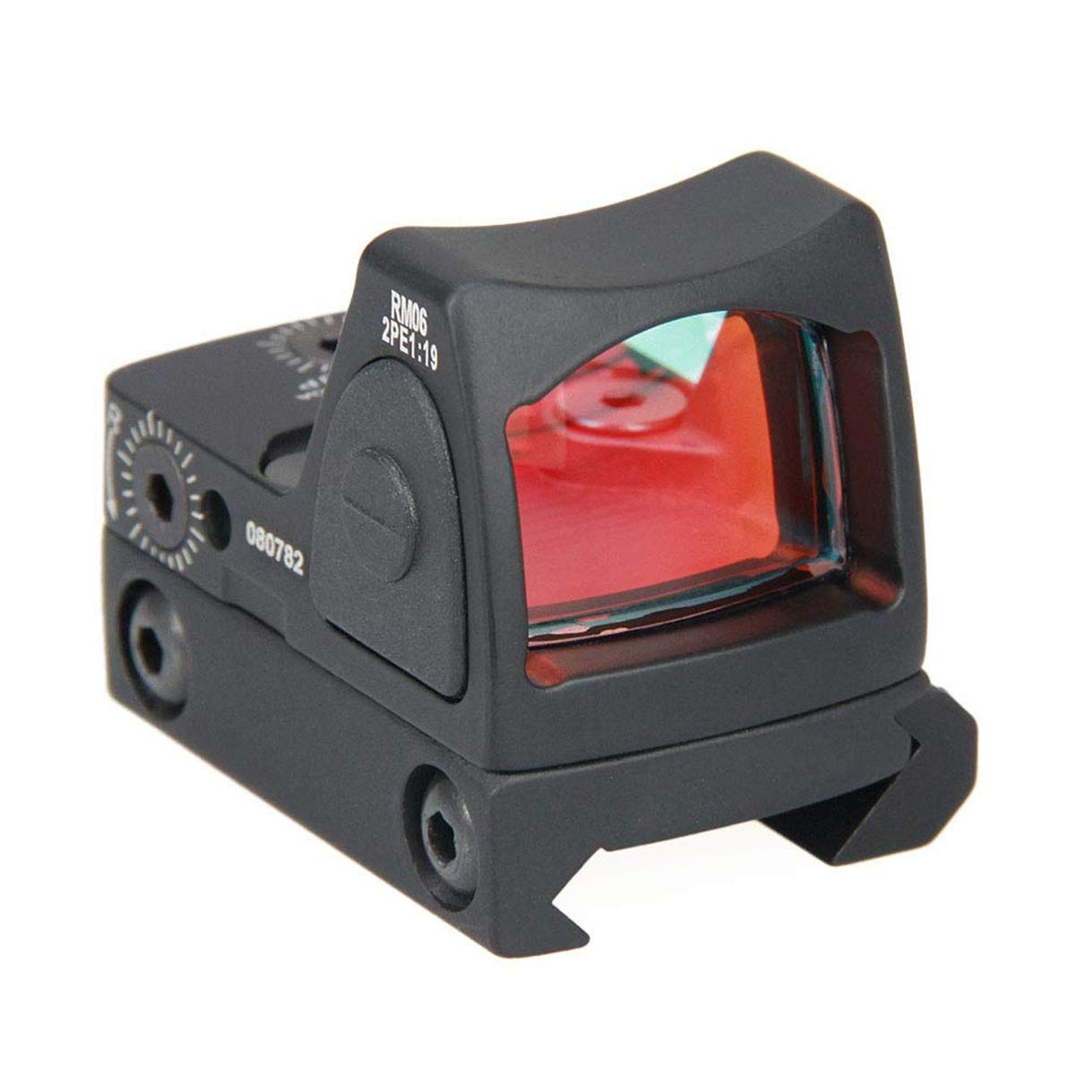 Red Dot Sight by ALZERO, RMR Type 3.25 MOA Adjustable Reflex Sight Pistol Scope 45mm Parts Set US(Black)