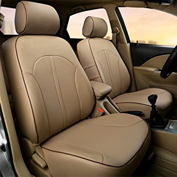 LUXURY BEIGE FAUX LEATHER SEAT COVER SET for RANGE ROVER SPORT 2014