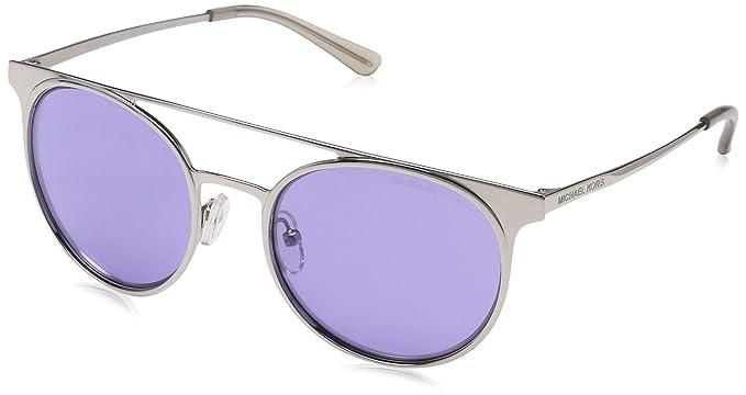Michael Kors 11371A, Gafas de sol para Mujer, Shiny Silver ...