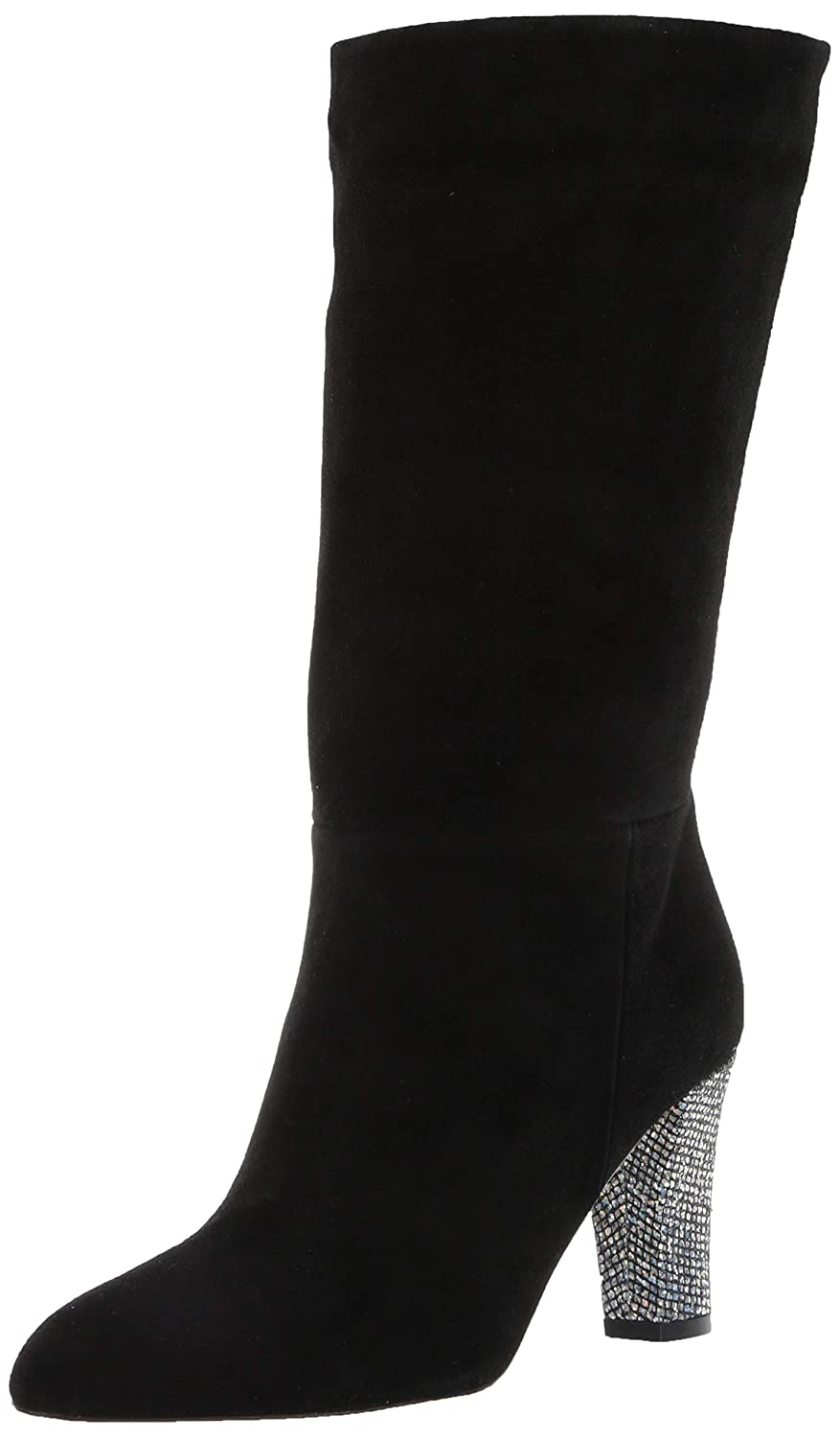 Black Suede SJP by Sarah Jessica Parker Womens Reign Almond Toe Mid Calf Boot